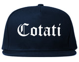 Cotati California CA Old English Mens Snapback Hat Navy Blue