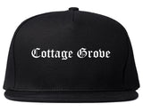 Cottage Grove Minnesota MN Old English Mens Snapback Hat Black