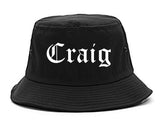 Craig Colorado CO Old English Mens Bucket Hat Black