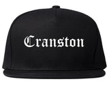 Cranston Rhode Island RI Old English Mens Snapback Hat Black