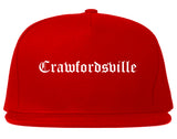 Crawfordsville Indiana IN Old English Mens Snapback Hat Red