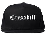 Cresskill New Jersey NJ Old English Mens Snapback Hat Black