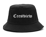 Crestview Florida FL Old English Mens Bucket Hat Black