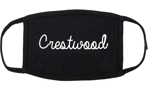 Crestwood Illinois IL Script Cotton Face Mask Black