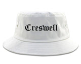 Creswell Oregon OR Old English Mens Bucket Hat White
