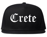 Crete Nebraska NE Old English Mens Snapback Hat Black