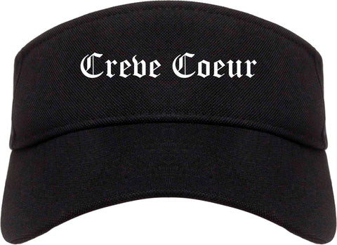 Creve Coeur Illinois IL Old English Mens Visor Cap Hat Black