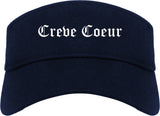 Creve Coeur Missouri MO Old English Mens Visor Cap Hat Navy Blue
