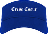 Creve Coeur Missouri MO Old English Mens Visor Cap Hat Royal Blue