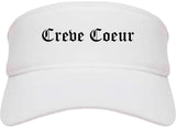 Creve Coeur Missouri MO Old English Mens Visor Cap Hat White