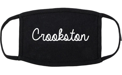 Crookston Minnesota MN Script Cotton Face Mask Black