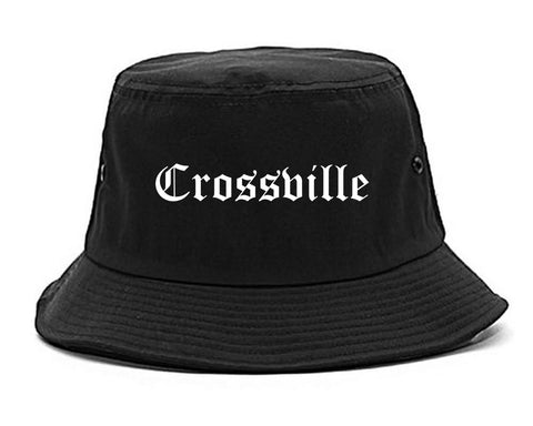 Crossville Tennessee TN Old English Mens Bucket Hat Black
