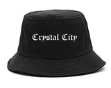 Crystal City Missouri MO Old English Mens Bucket Hat Black