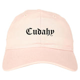 Cudahy California CA Old English Mens Dad Hat Baseball Cap Pink