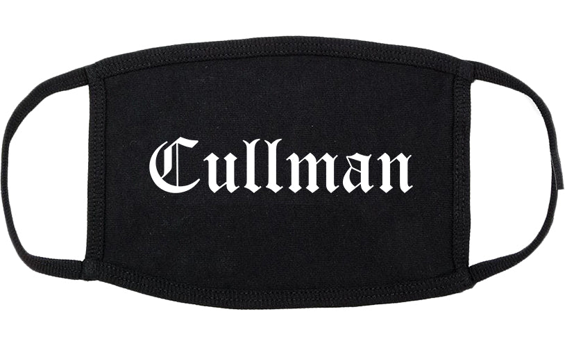 Cullman Alabama AL Old English Cotton Face Mask Black
