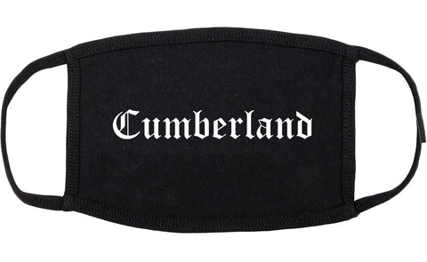 Cumberland Indiana IN Old English Cotton Face Mask Black