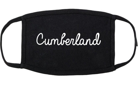 Cumberland Indiana IN Script Cotton Face Mask Black
