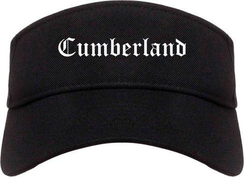 Cumberland Indiana IN Old English Mens Visor Cap Hat Black