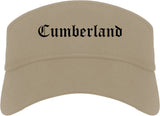 Cumberland Maryland MD Old English Mens Visor Cap Hat Khaki