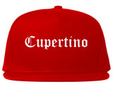 Cupertino California CA Old English Mens Snapback Hat Red