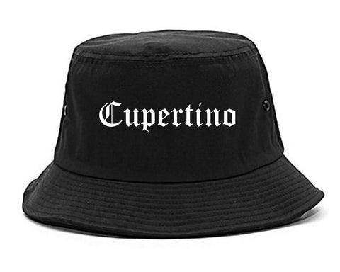 Cupertino California CA Old English Mens Bucket Hat Black
