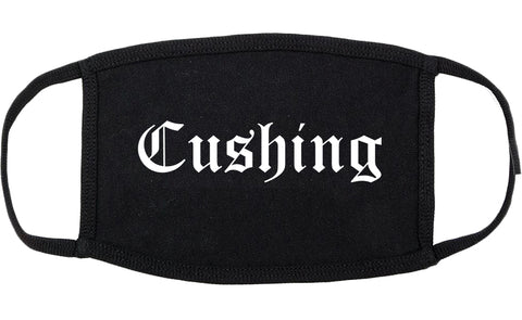 Cushing Oklahoma OK Old English Cotton Face Mask Black