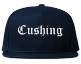 Cushing Oklahoma OK Old English Mens Snapback Hat Navy Blue