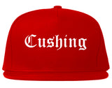 Cushing Oklahoma OK Old English Mens Snapback Hat Red