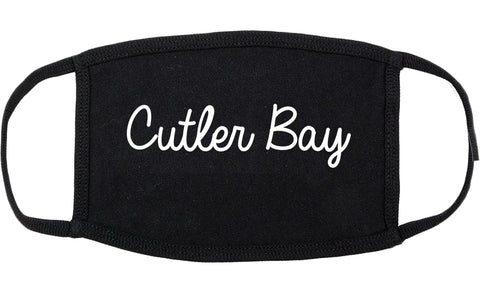 Cutler Bay Florida FL Script Cotton Face Mask Black
