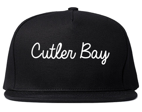 Cutler Bay Florida FL Script Mens Snapback Hat Black