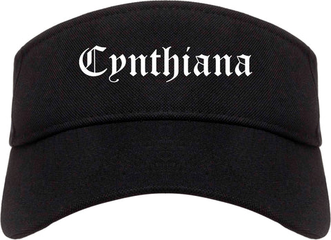 Cynthiana Kentucky KY Old English Mens Visor Cap Hat Black