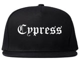 Cypress California CA Old English Mens Snapback Hat Black