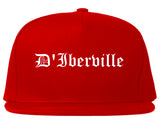 D'Iberville Mississippi MS Old English Mens Snapback Hat Red