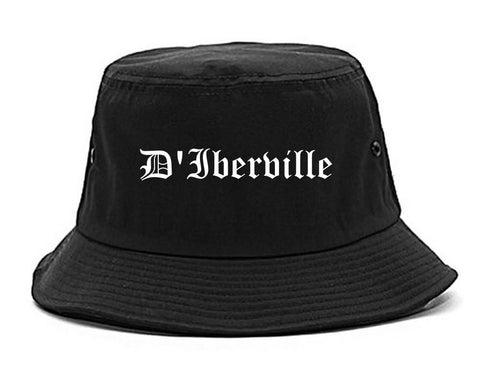 D'Iberville Mississippi MS Old English Mens Bucket Hat Black