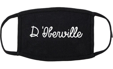 D'Iberville Mississippi MS Script Cotton Face Mask Black