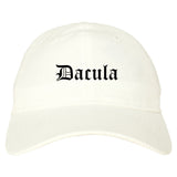 Dacula Georgia GA Old English Mens Dad Hat Baseball Cap White