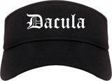 Dacula Georgia GA Old English Mens Visor Cap Hat Black
