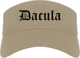 Dacula Georgia GA Old English Mens Visor Cap Hat Khaki