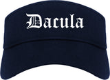 Dacula Georgia GA Old English Mens Visor Cap Hat Navy Blue