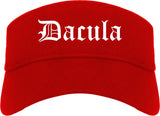 Dacula Georgia GA Old English Mens Visor Cap Hat Red