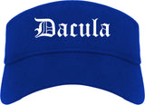 Dacula Georgia GA Old English Mens Visor Cap Hat Royal Blue