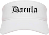 Dacula Georgia GA Old English Mens Visor Cap Hat White