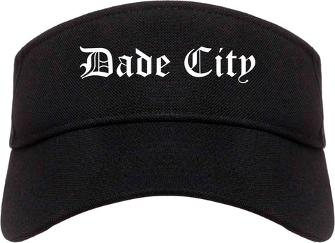 Dade City Florida FL Old English Mens Visor Cap Hat Black