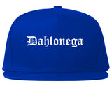 Dahlonega Georgia GA Old English Mens Snapback Hat Royal Blue