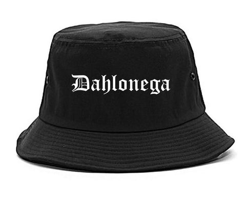 Dahlonega Georgia GA Old English Mens Bucket Hat Black