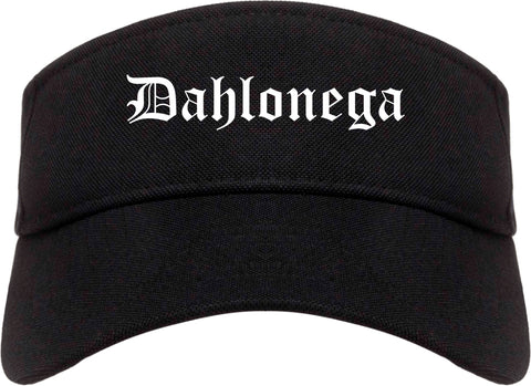 Dahlonega Georgia GA Old English Mens Visor Cap Hat Black