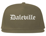Daleville Alabama AL Old English Mens Snapback Hat Grey