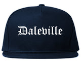 Daleville Alabama AL Old English Mens Snapback Hat Navy Blue