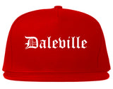 Daleville Alabama AL Old English Mens Snapback Hat Red