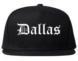 Dallas Texas TX Old English Mens Snapback Hat Black